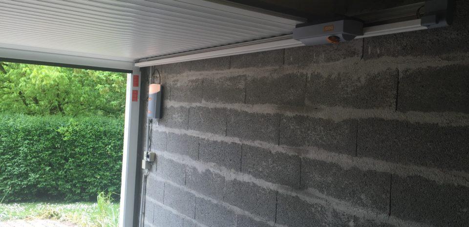 Porte de garage roma gecco refoulement plafond profileo - Porte de garage a refoulement plafond ...