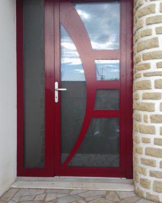 Porte d'entrée à panneau Amande 1 vantail ALU PIERRET
