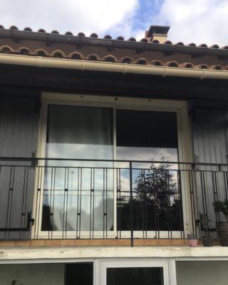 Porte-fenêtre ALU coulissante 2 vantaux mobiles K-LINE blanc satiné