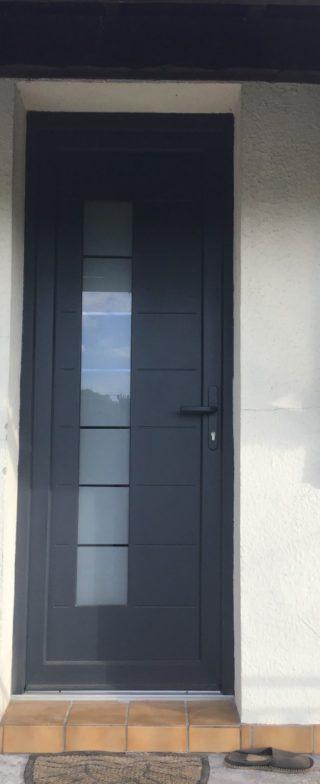 Porte d'entrée à panneau Cassis 1 vantail modèle Cassis 4